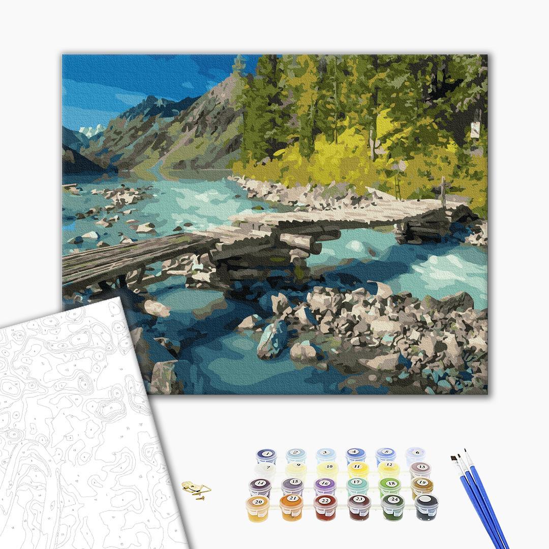 Картина по номерам Природа - Горный мостик