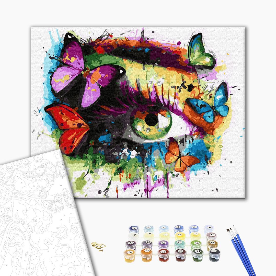 Картина по номерам Поп-арт - Погляд метеликом