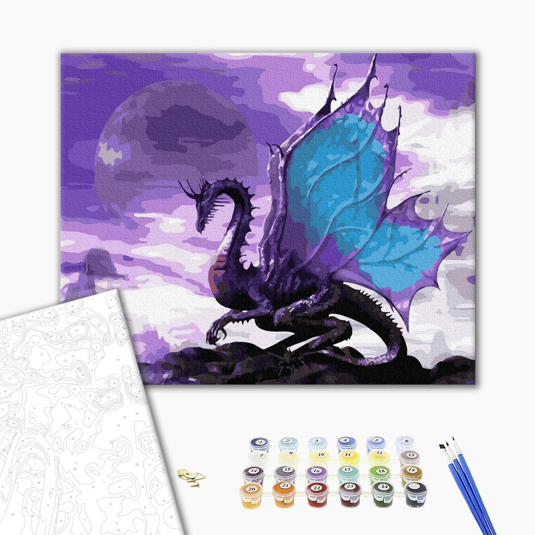 Картина по номерам Животные, птицы и рыбы - Небесний дракон