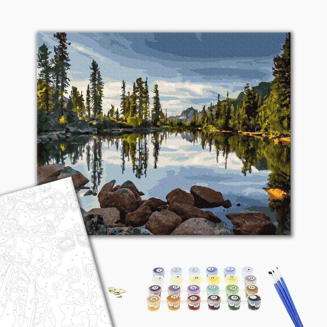 Картина по номерам Природа - Живописное озеро