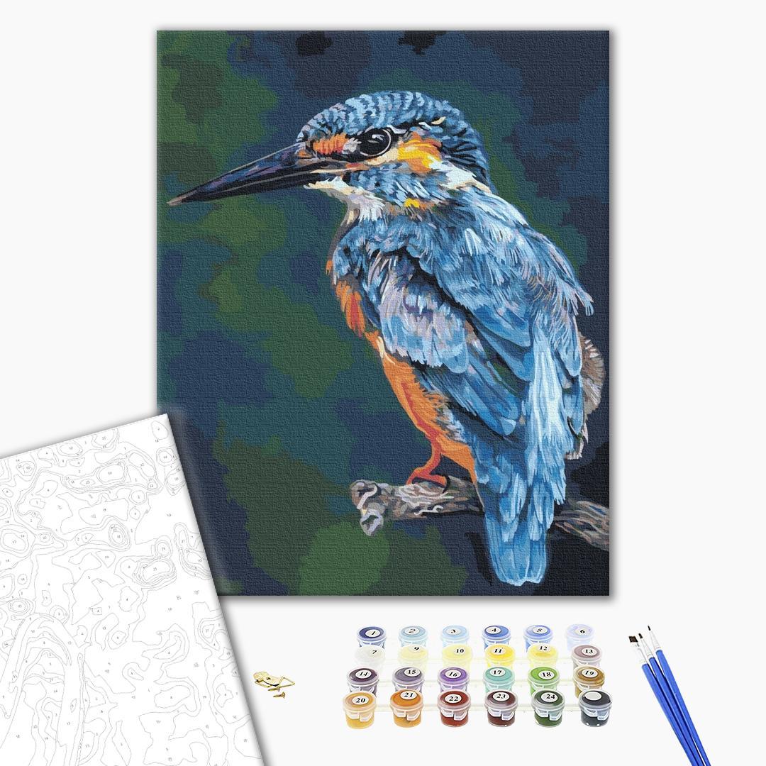 Картина по номерам Животные, птицы и рыбы - Тропическая птица