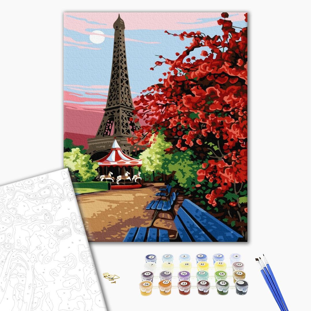 Картина по номерам Города - Парижский сад