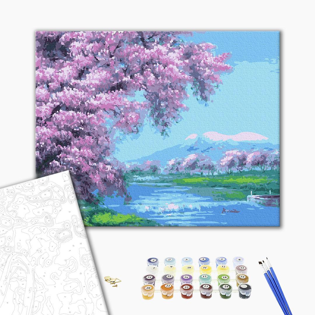 Картина по номерам Пейзажи - Весна у горах
