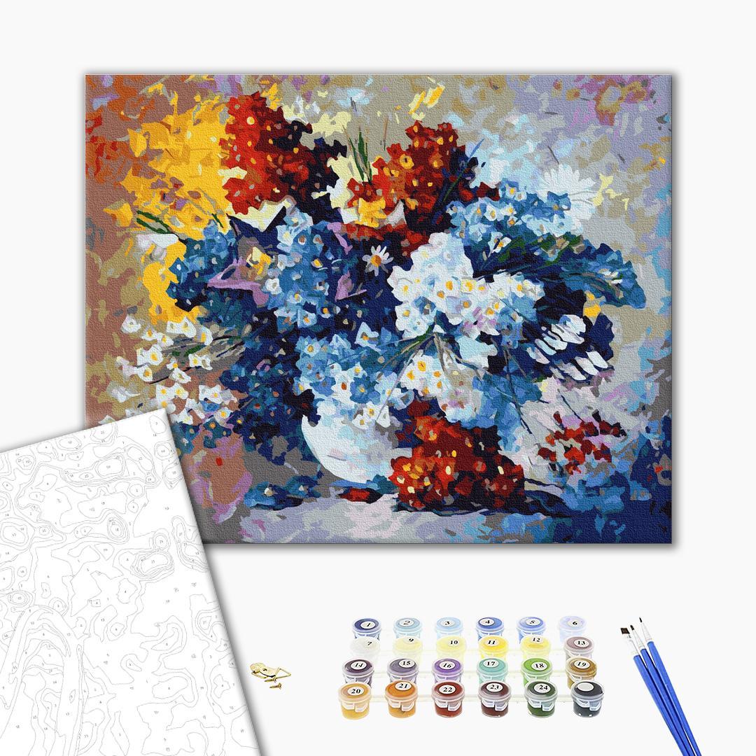Картина по номерам Цветы - Букет масляными красками