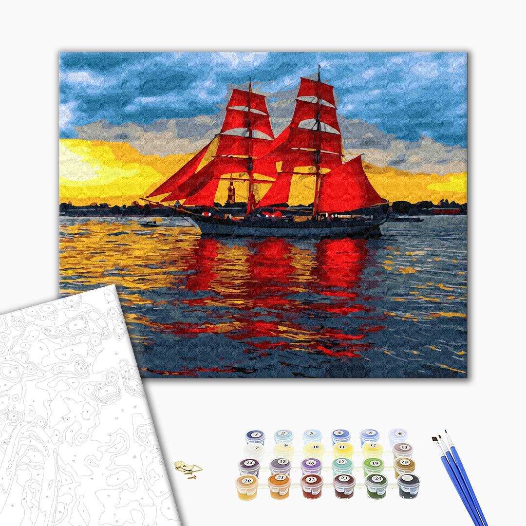 Картина по номерам Корабли, авто и самолеты - Алые паруса