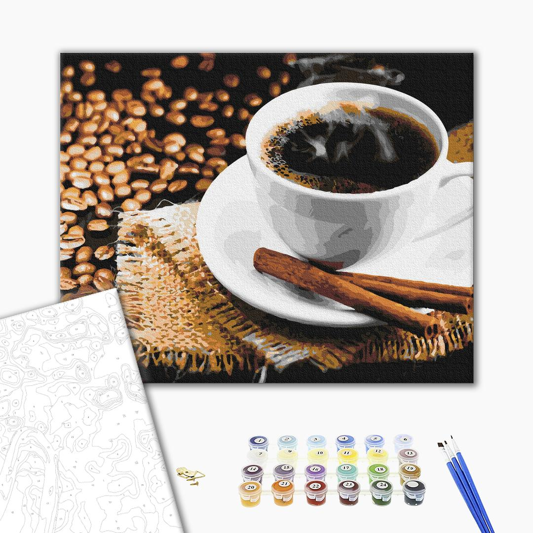 Картина по номерам Натюрморты - Кофе с корицей
