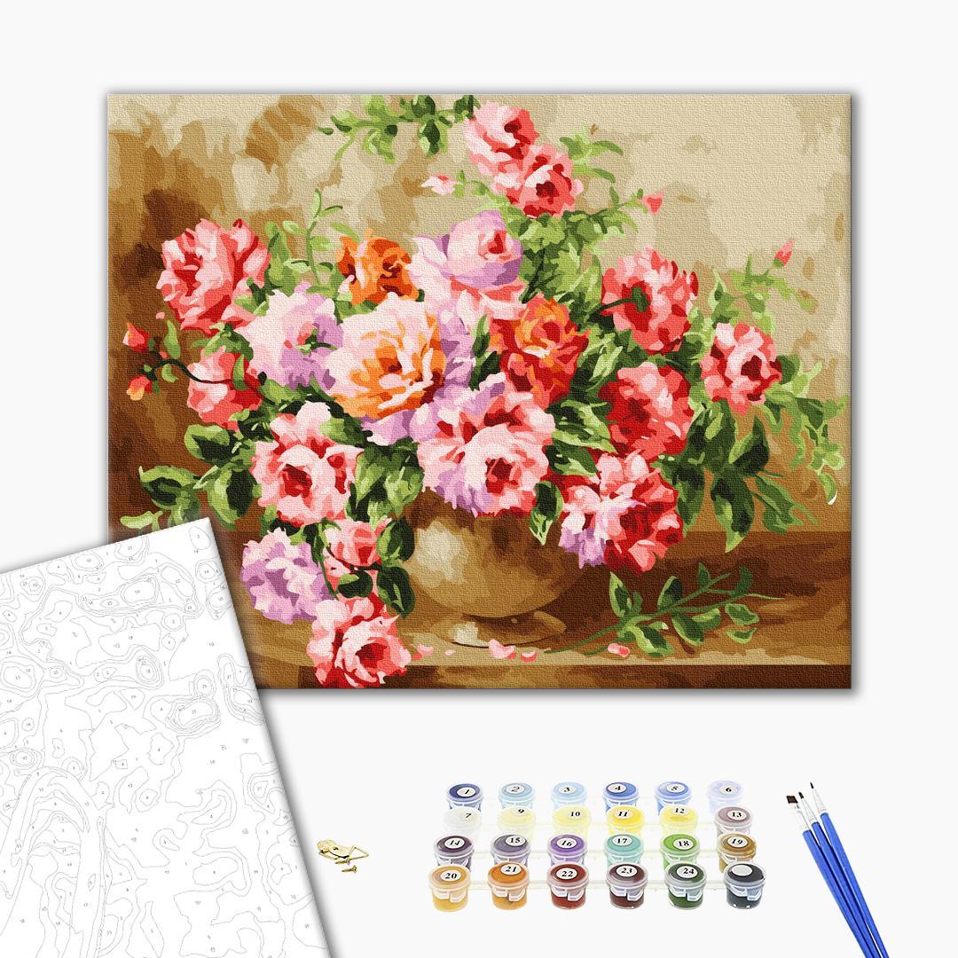 Картина по номерам Цветы - Пишний букет квітів
