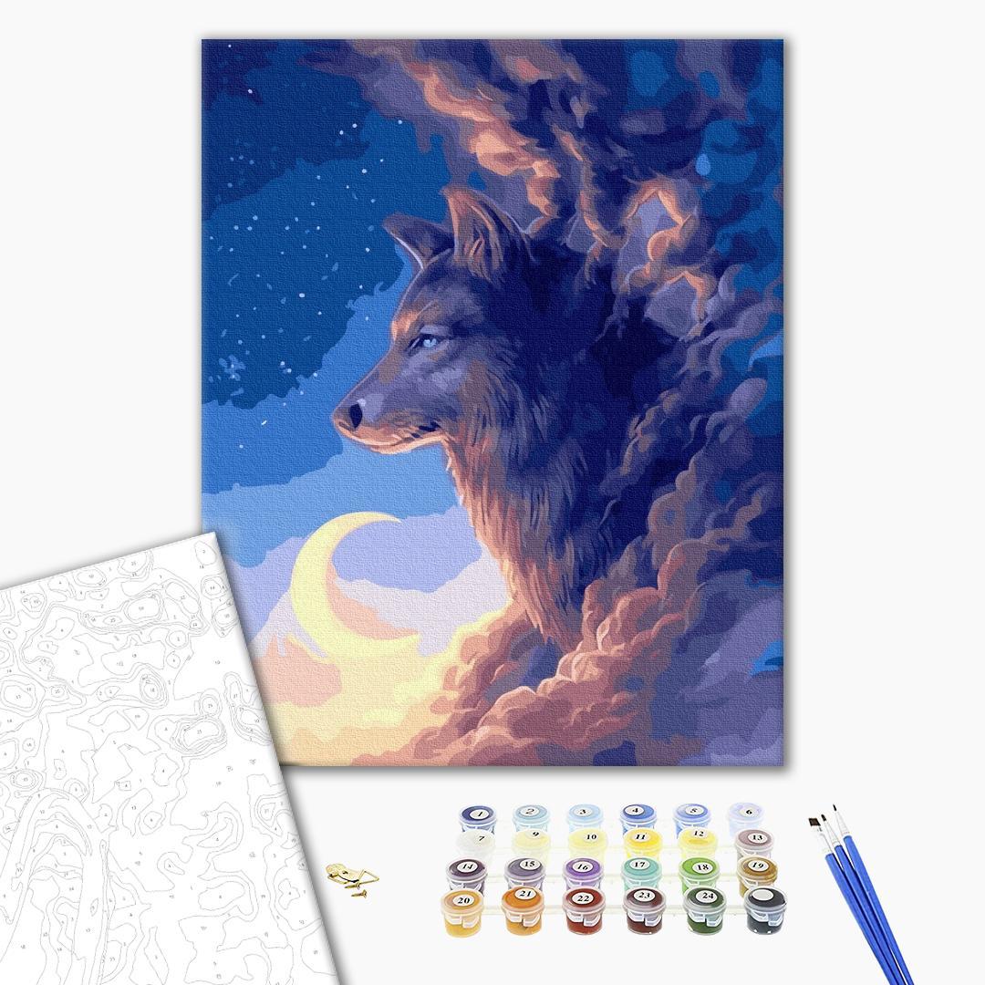 Картина по номерам Животные, птицы и рыбы - Вовк в хмарах