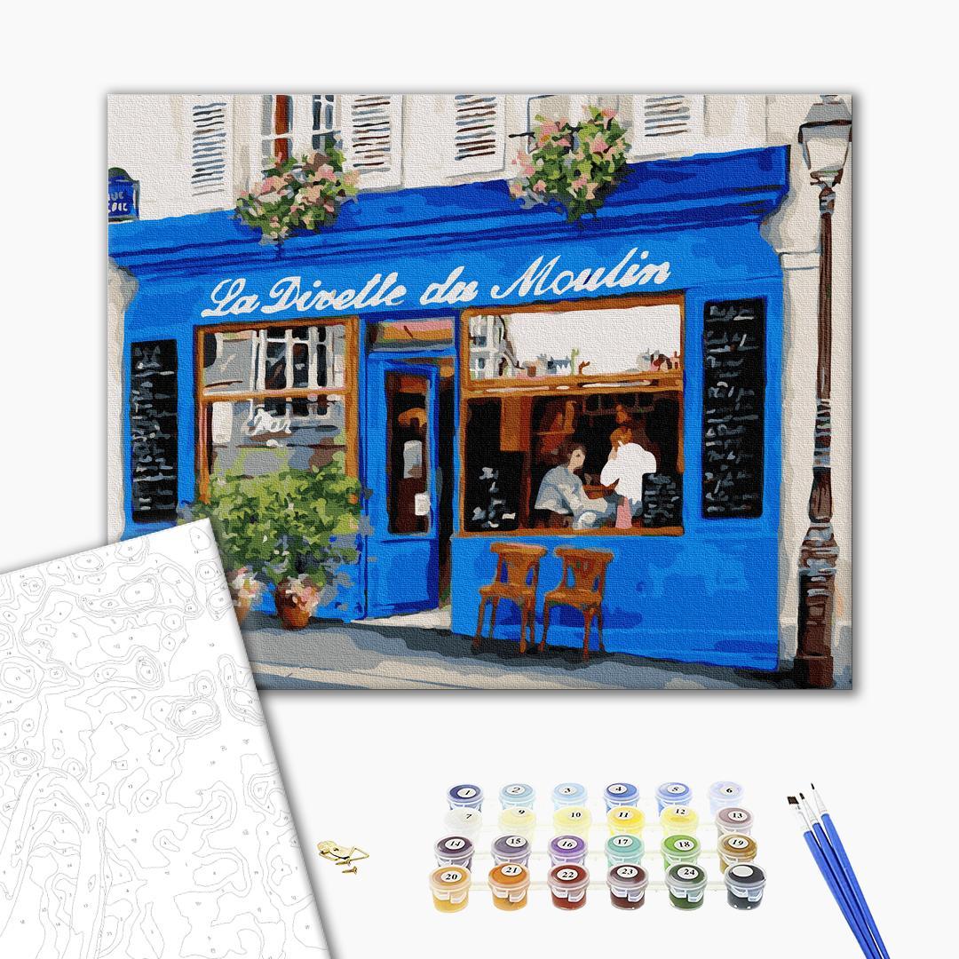Картина по номерам Города - Французское кафе