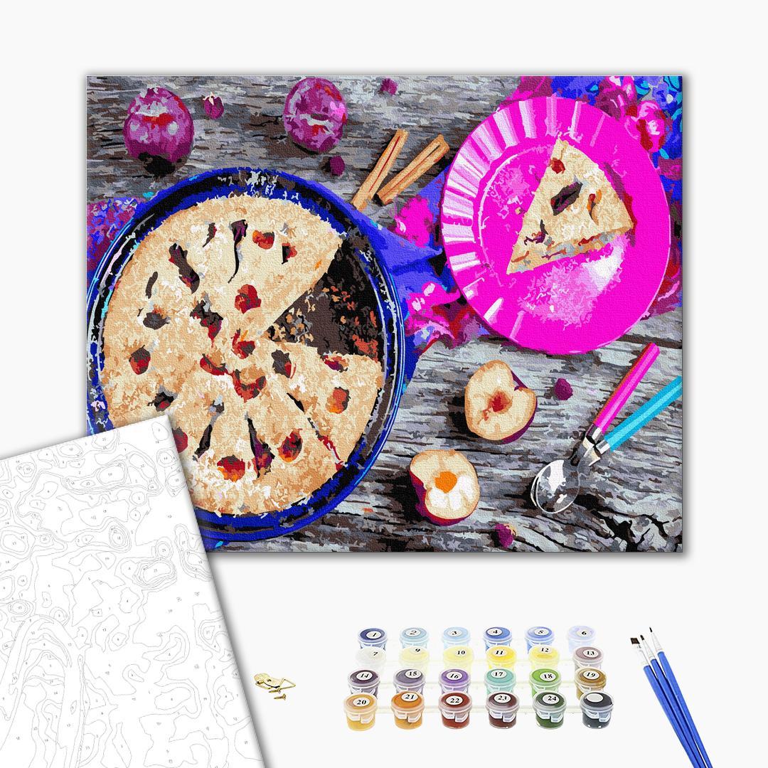 Картина по номерам Натюрморты - Сливовий пиріг