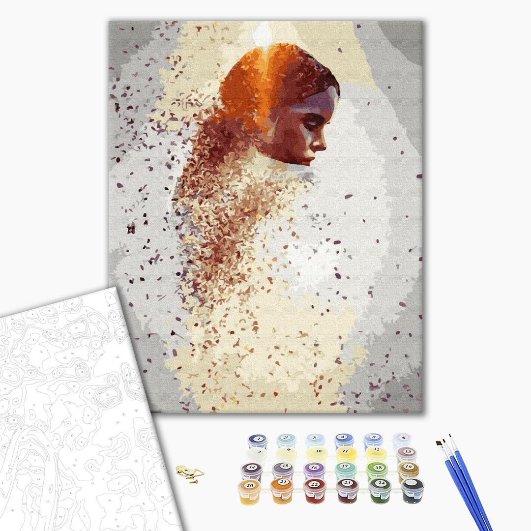 Картина по номерам Абстракции - Сяючий профіль