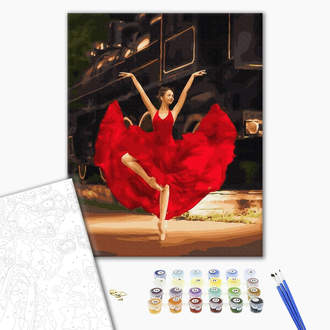Картина по номерам Люди на картинах - Пристрасна балерина