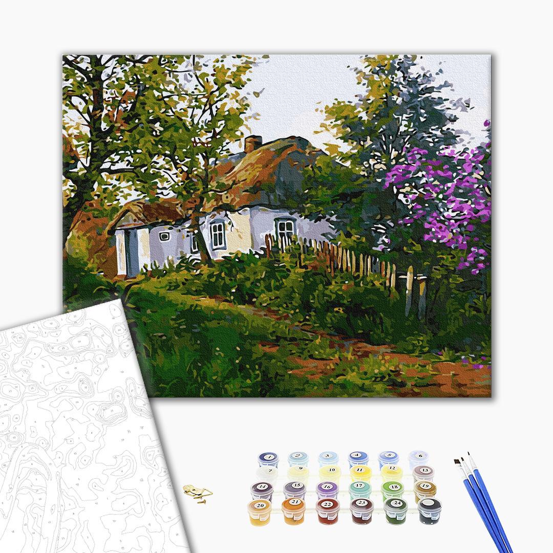 Картина по номерам Украинские города и пейзажи - Деревенский домик