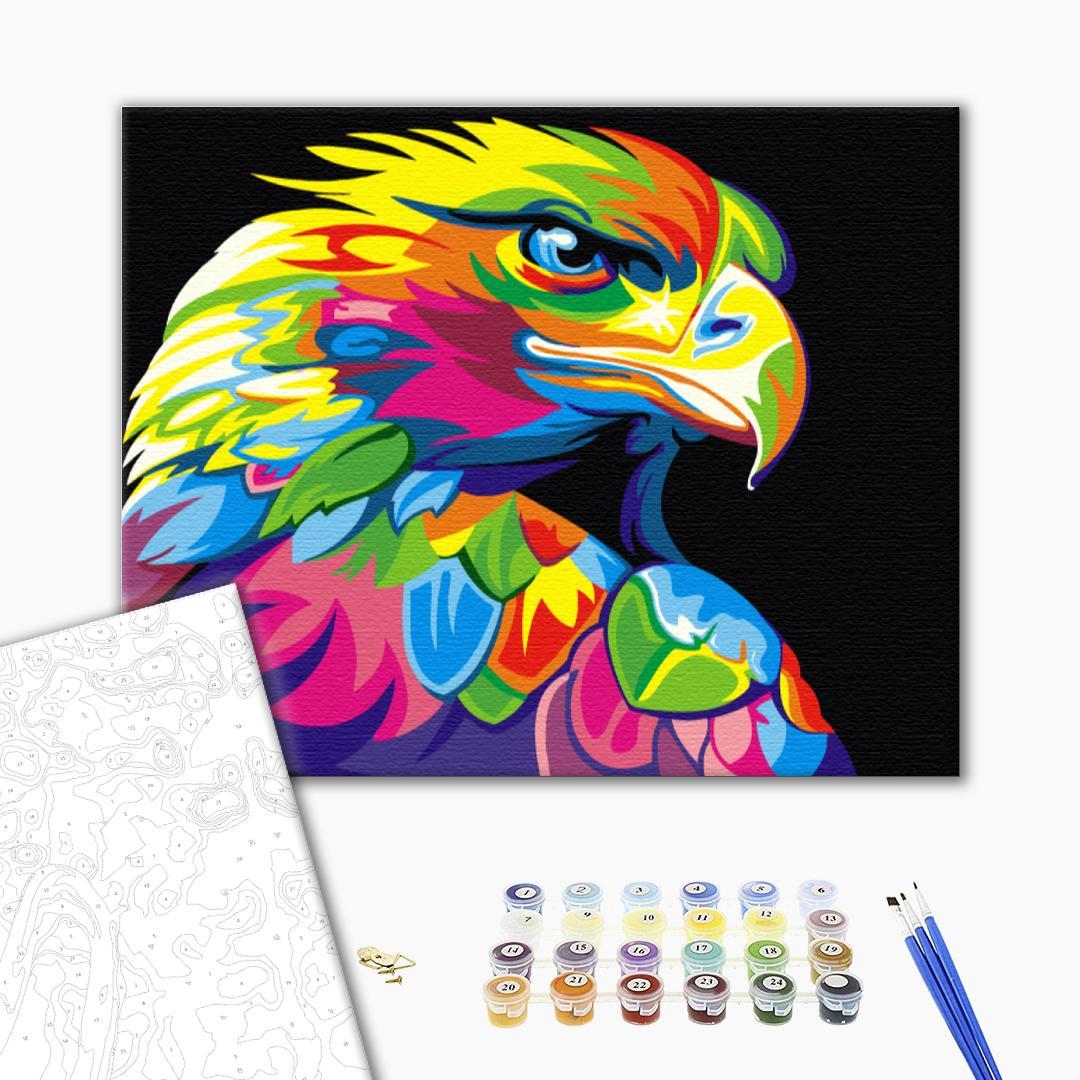 Картина по номерам Животные, птицы и рыбы - Веселковий орел