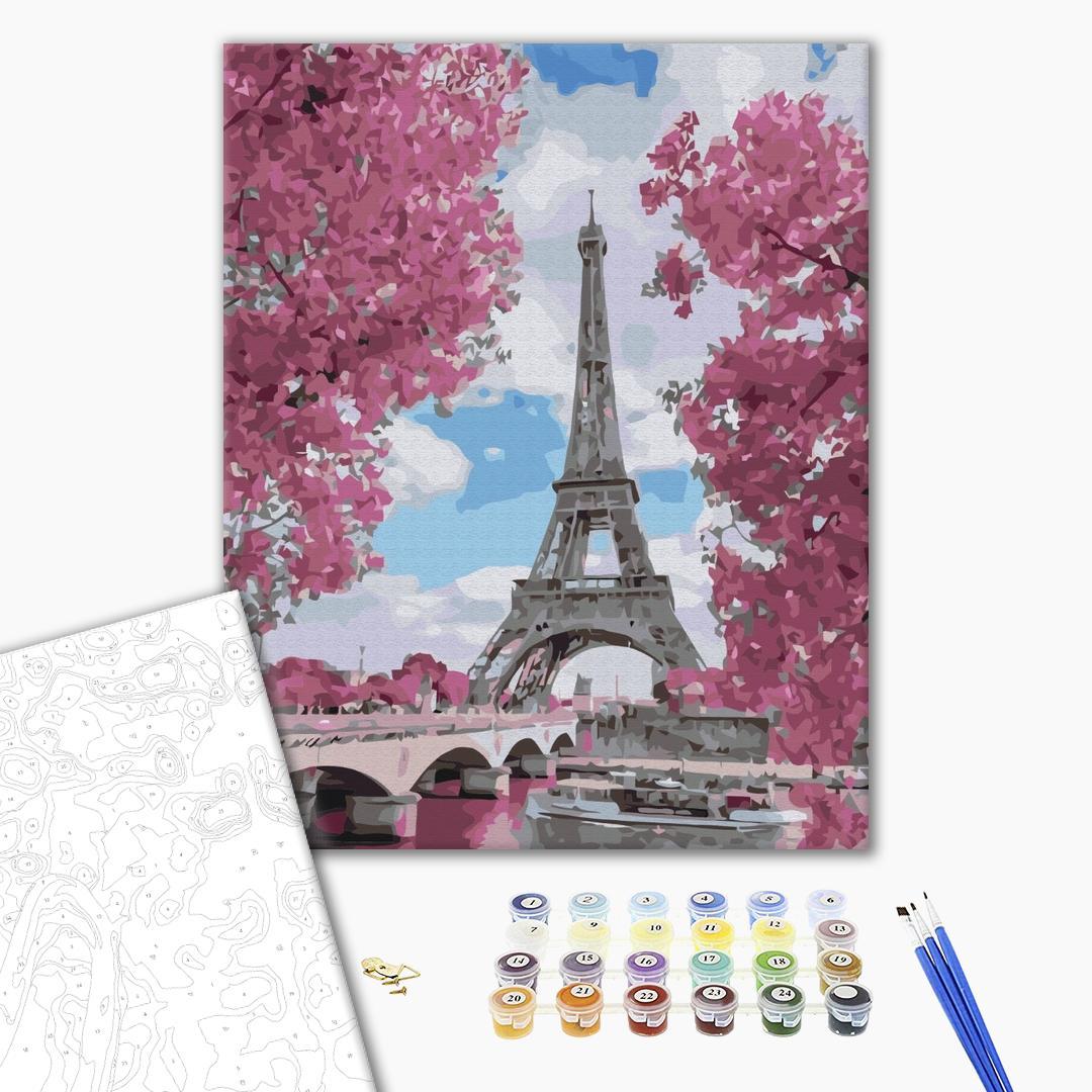 Картина по номерам Города - Магнолии в Париже