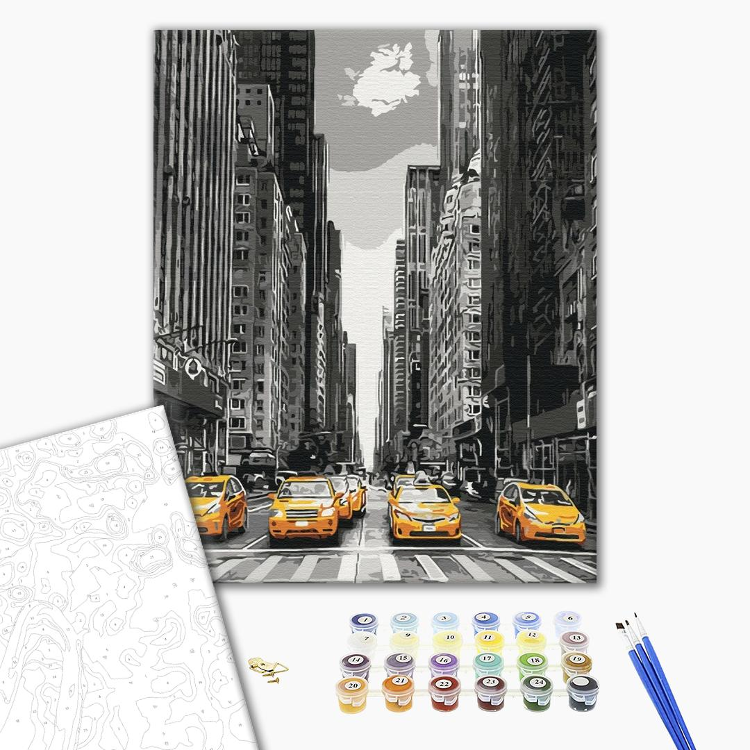 Картина по номерам Города - Нью-Йоркське таксі