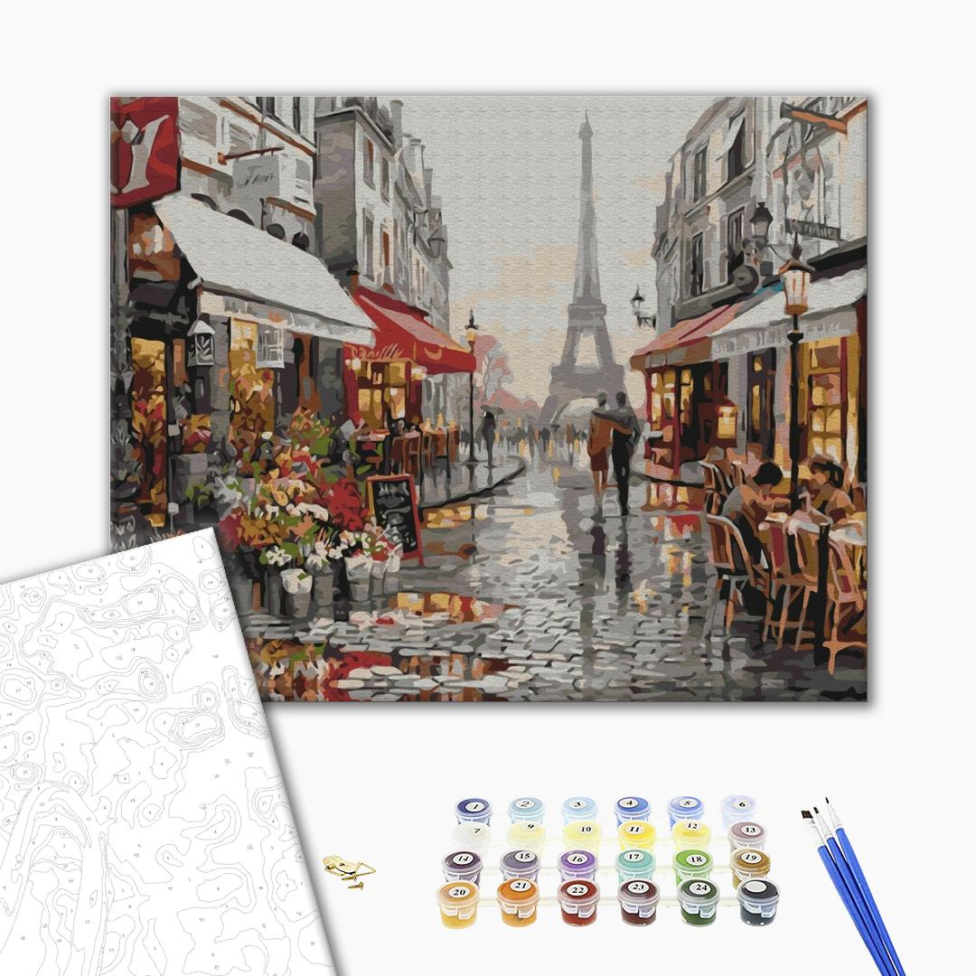 Картина по номерам Города - Париж після дощу
