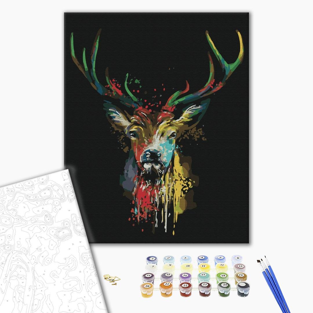 Картина по номерам Поп-арт - Красочный олень