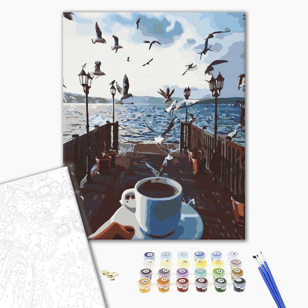 Картина по номерам Уникальные сюжеты - Море кофе