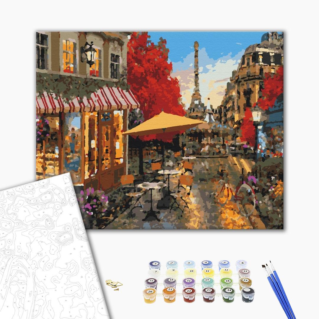 Картина по номерам Города - Вуличне життя Парижа