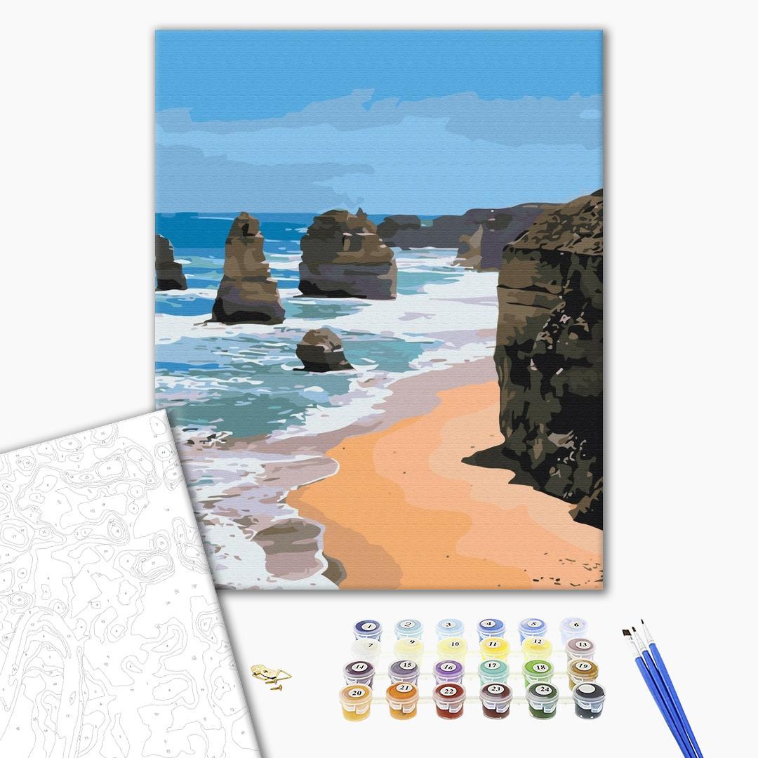 Картина по номерам Природа - Морські скелі