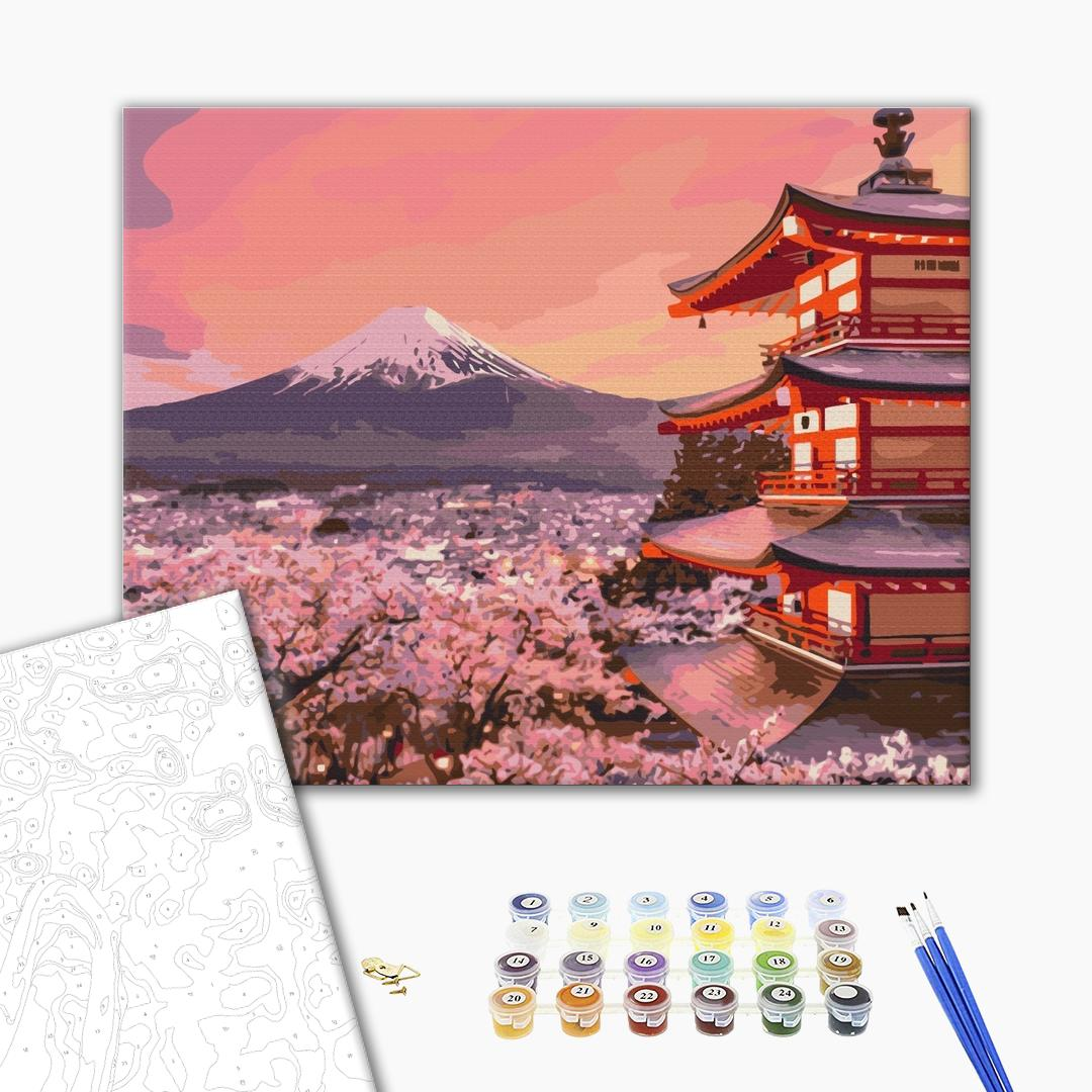 Картина по номерам Города - Традиционная Япония