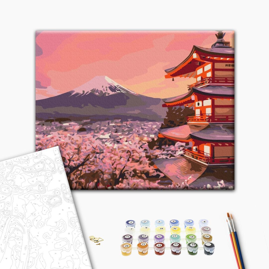 Картина по номерам Города - Традиційна Японія