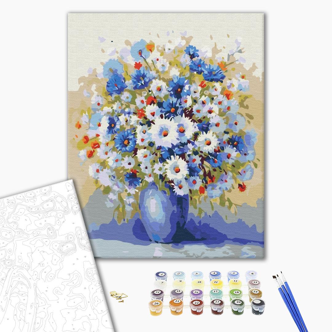 Картина по номерам Цветы - Полевой букет