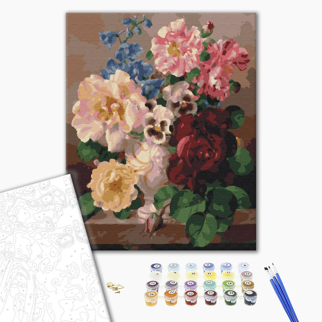 Картина по номерам Цветы - Пышный натюрморт