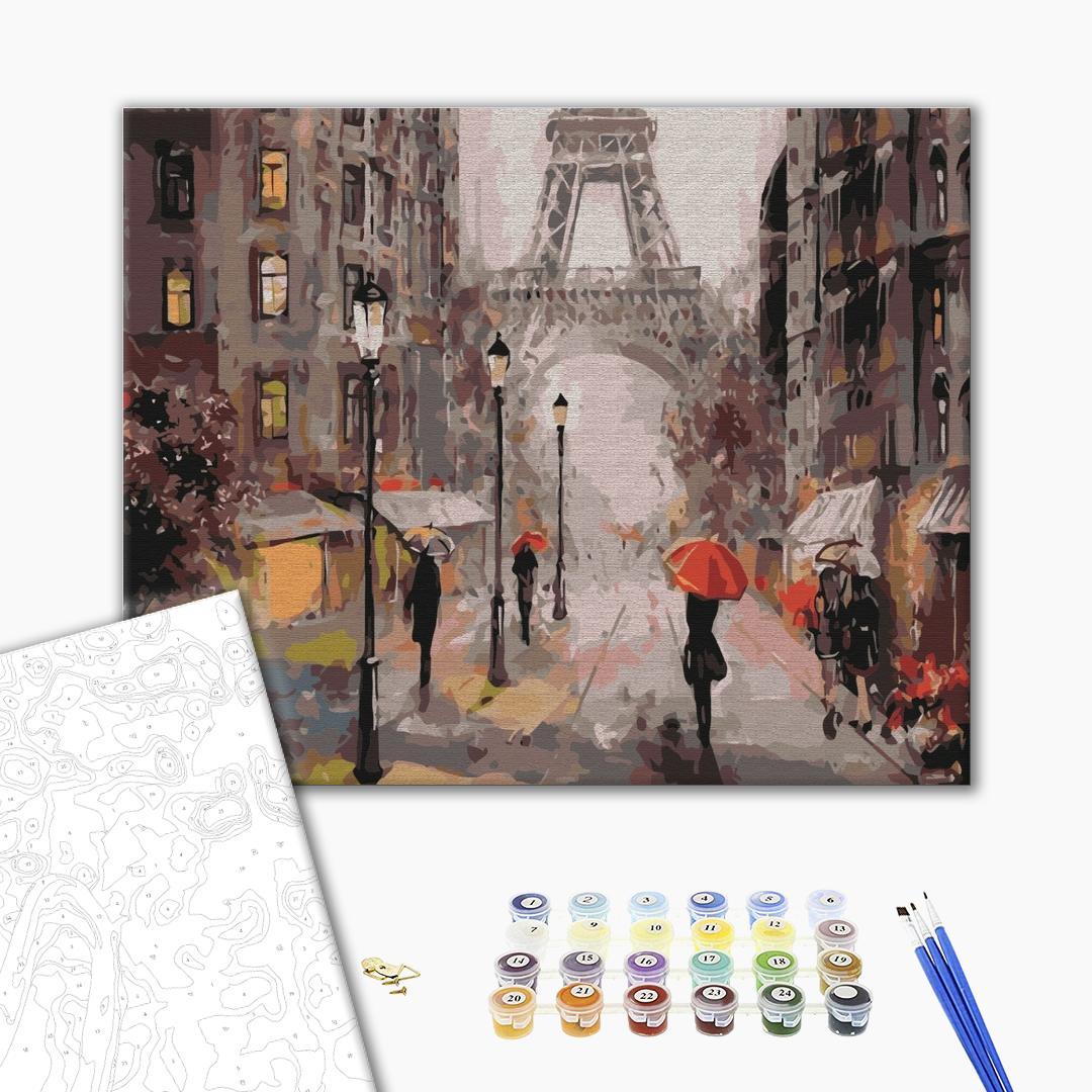 Картина по номерам Города - Дождливое утро в Париже