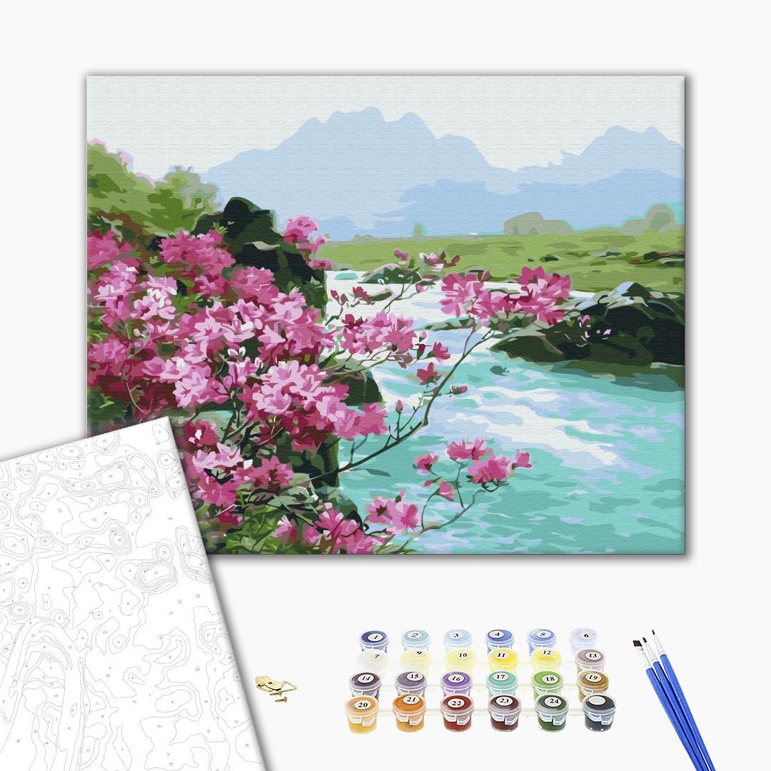Картина по номерам Природа - Горные цветы