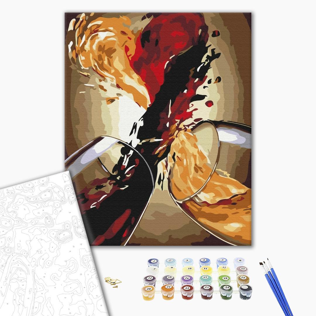 Картина по номерам Натюрморты - Вино в фарбах