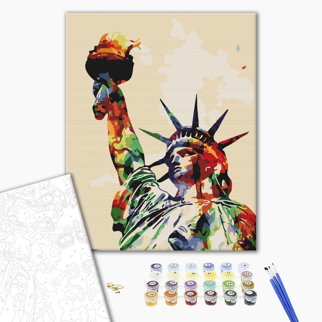 Картина по номерам Города - Краски свободы