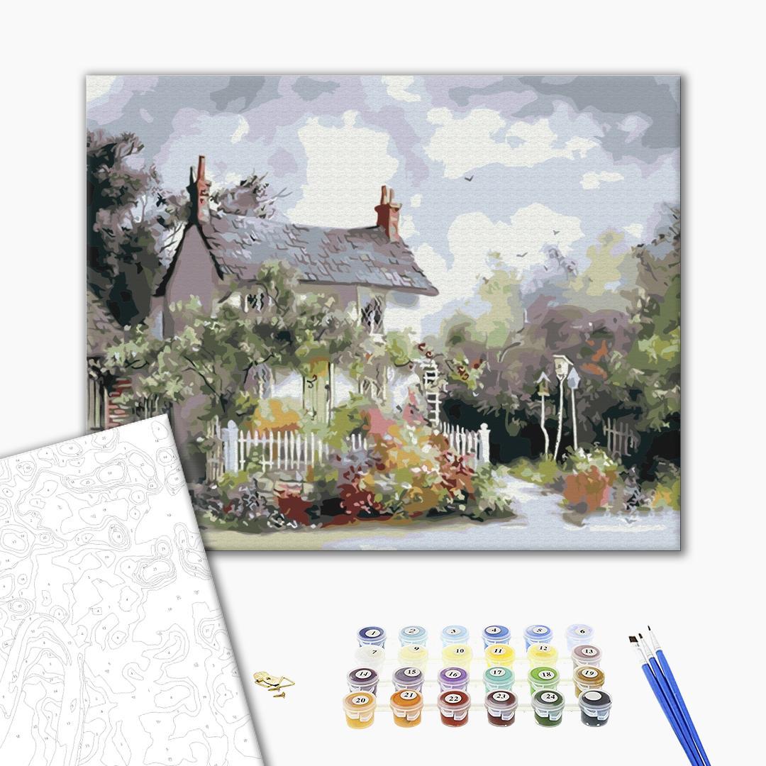 Картина по номерам Пейзажи - Уютный пригород