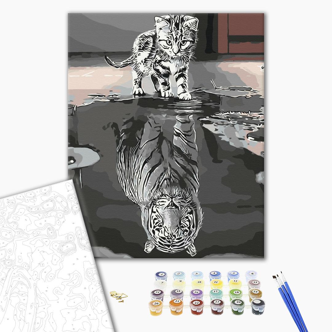 Картина по номерам Животные, птицы и рыбы - Відображення сили