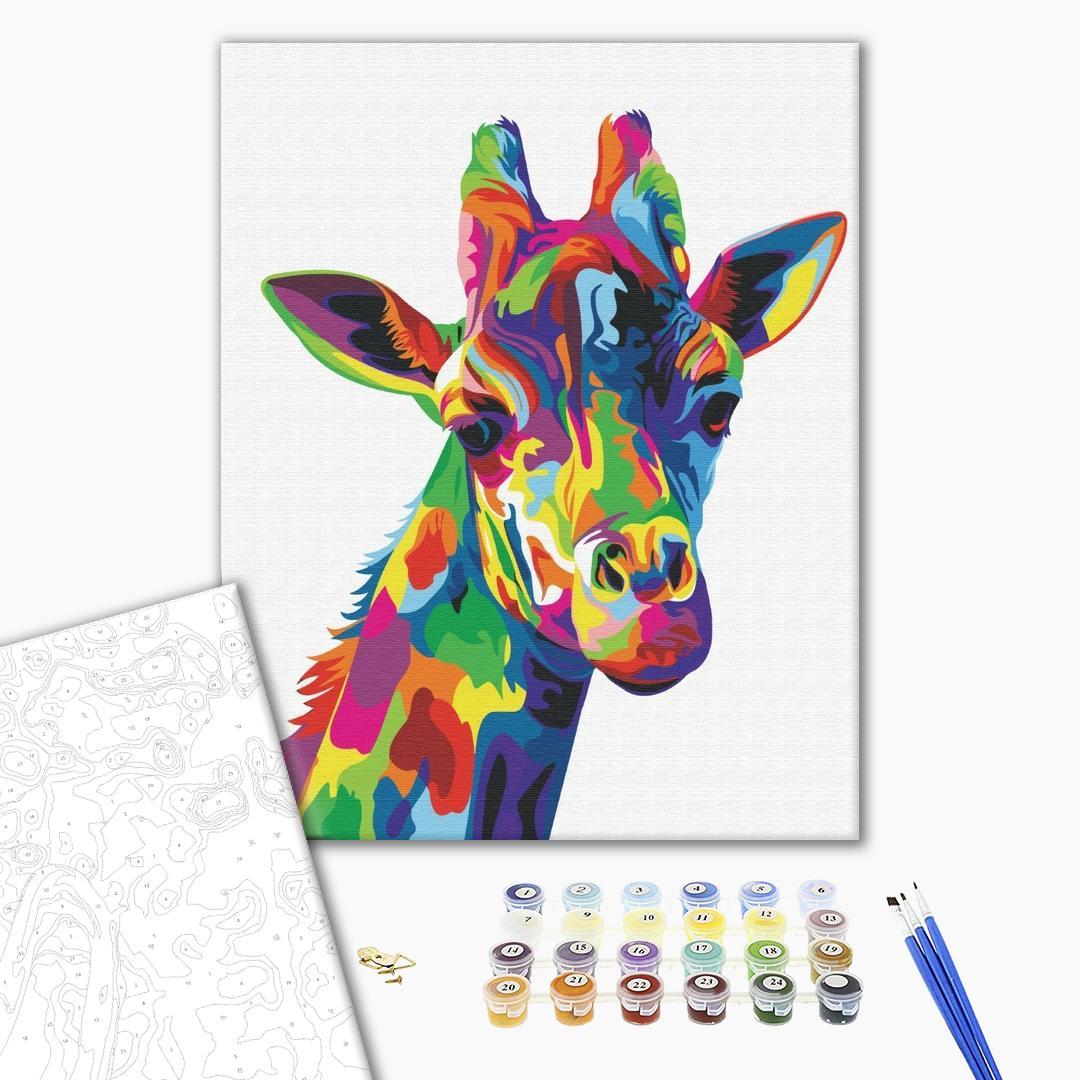 Картина по номерам Поп-арт - Радужный жираф