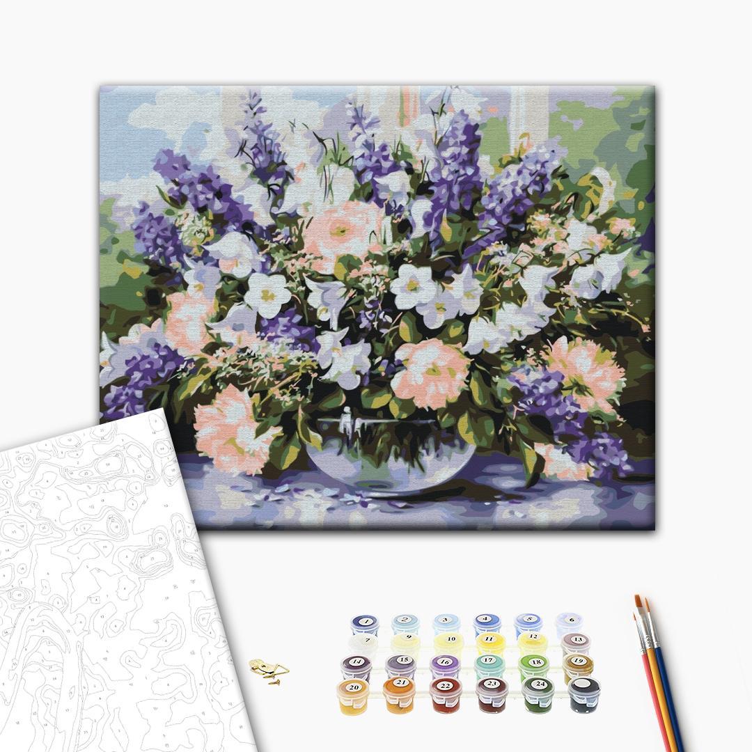 Картина по номерам Цветы - Весенний букет