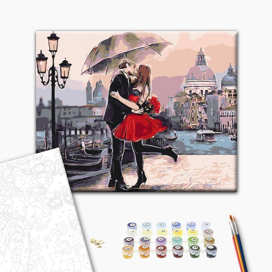 Картина по номерам Люди на картинах - Пара в Венеции