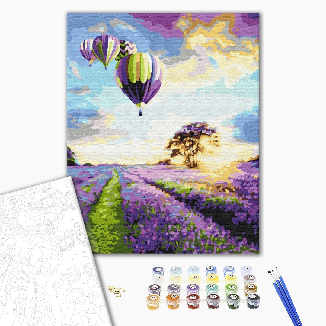 Картина по номерам Пейзажи - Політ над лавандовим полем