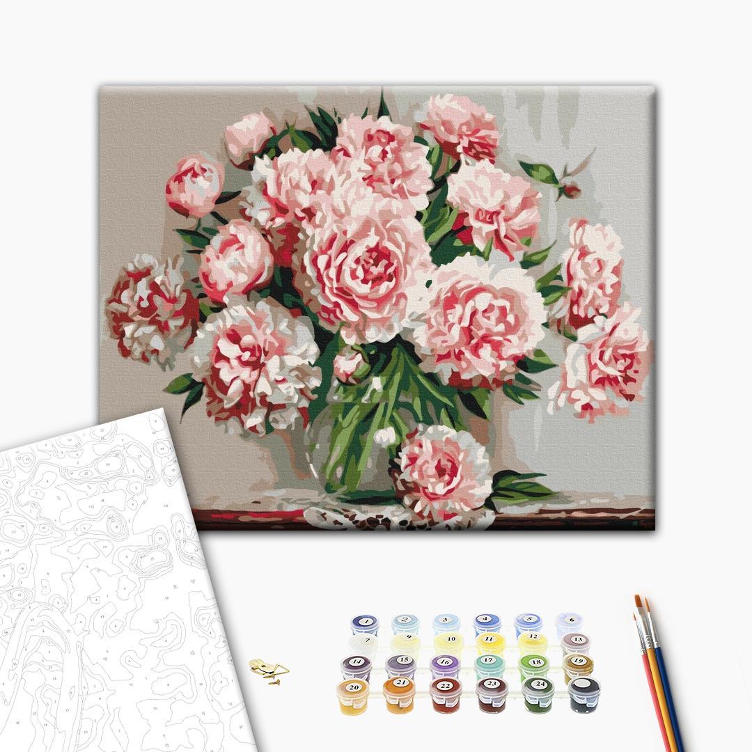 Картина по номерам Цветы - Садові піони