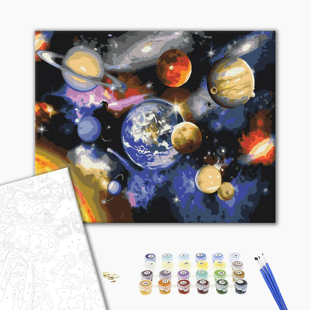 Картина по номерам Космос - Парад планет