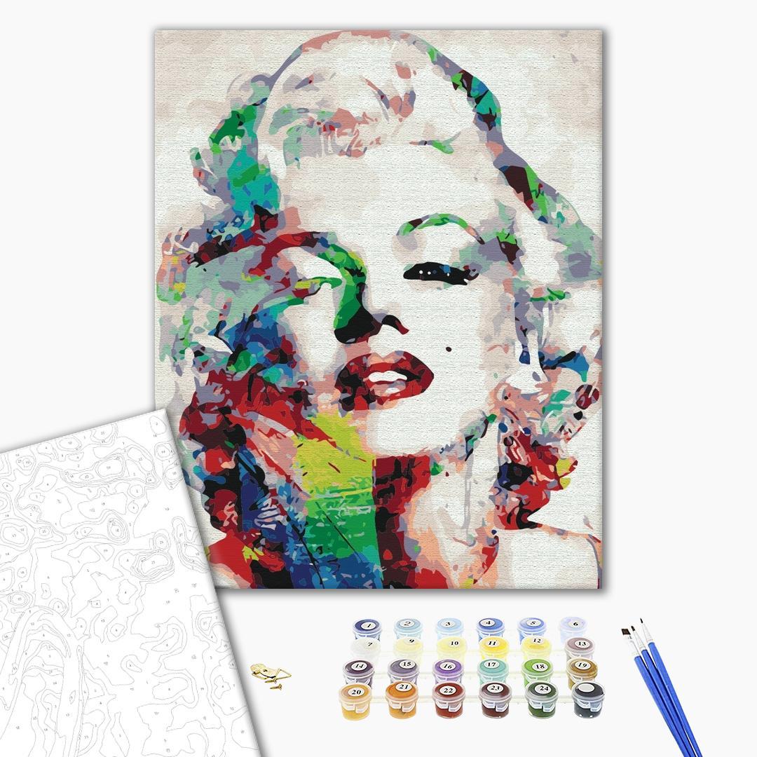 Картина по номерам Люди на картинах - Красочная Мерлин Монро