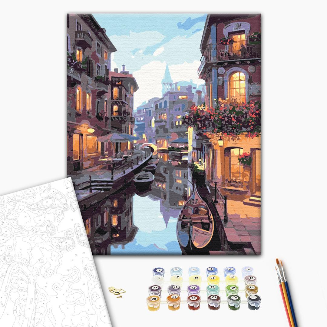 Картина по номерам Города - Канал в Венеции