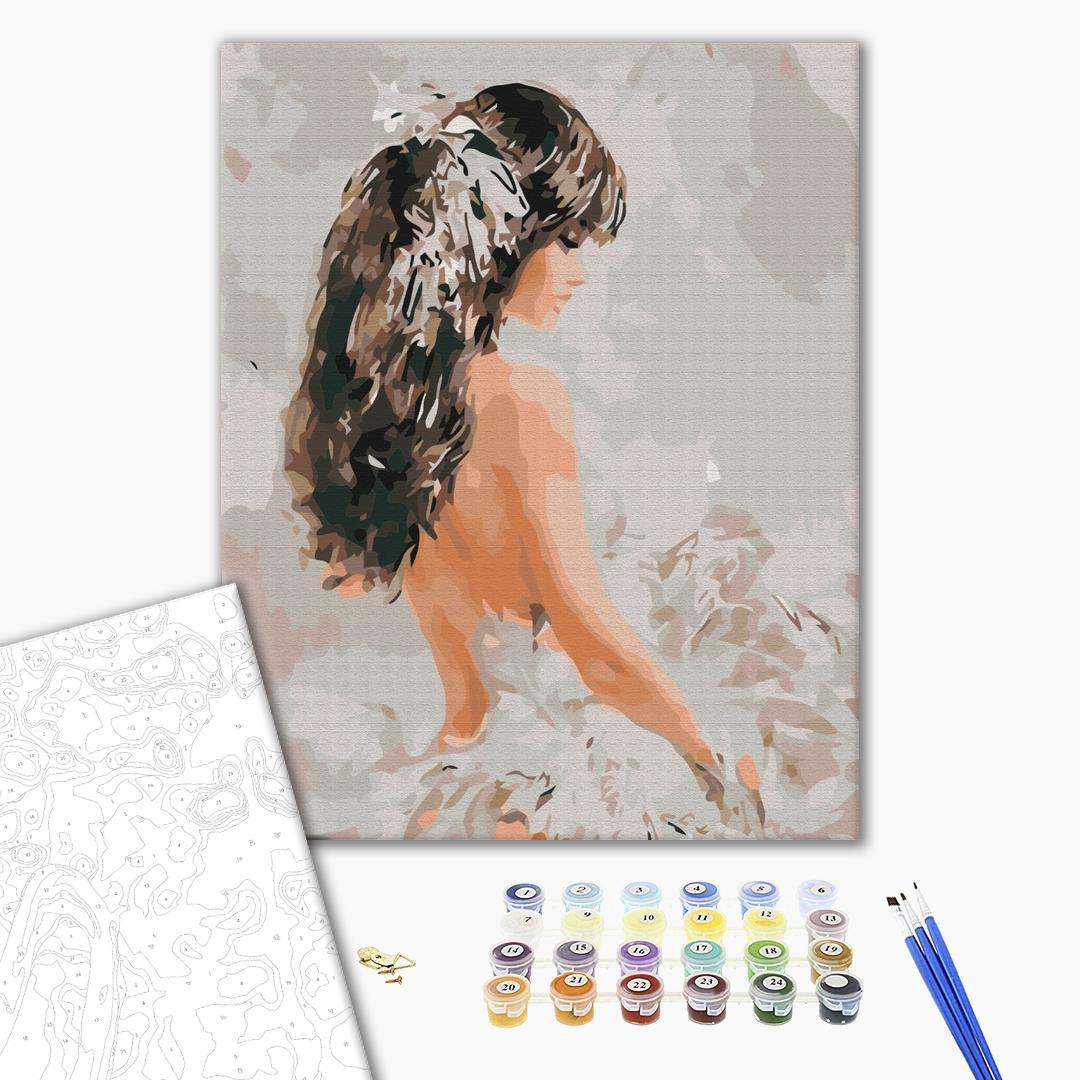 Картина по номерам Люди на картинах - Дівчина з пір'ям