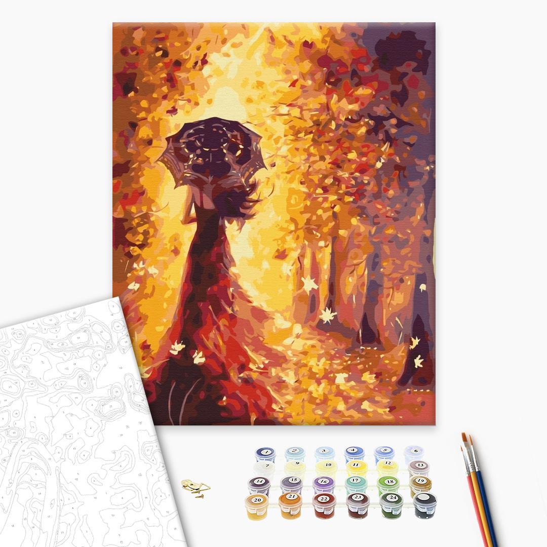Картина по номерам Люди на картинах - Золотая осень