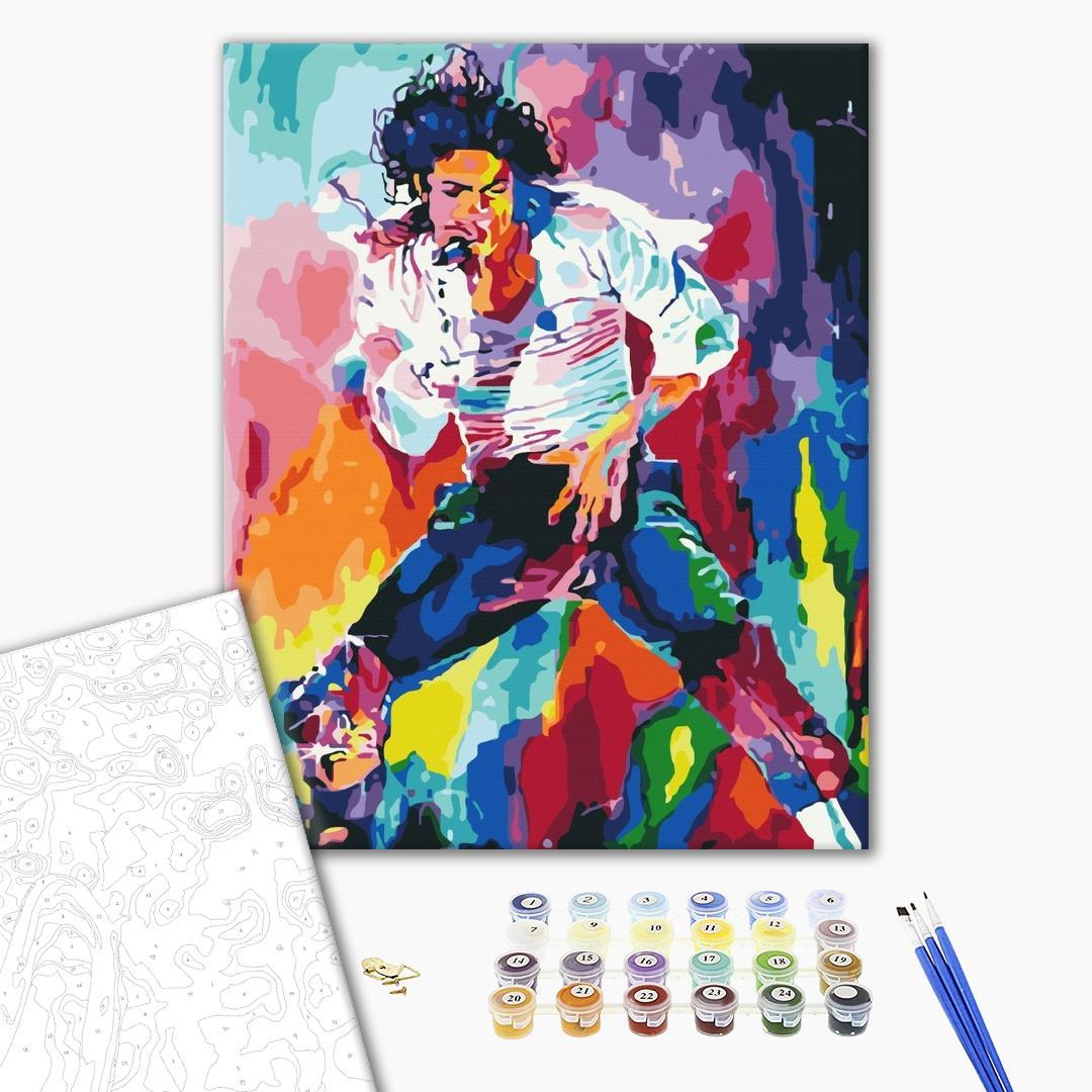 Картина по номерам Поп-арт - Яскравий Майкл Джексон