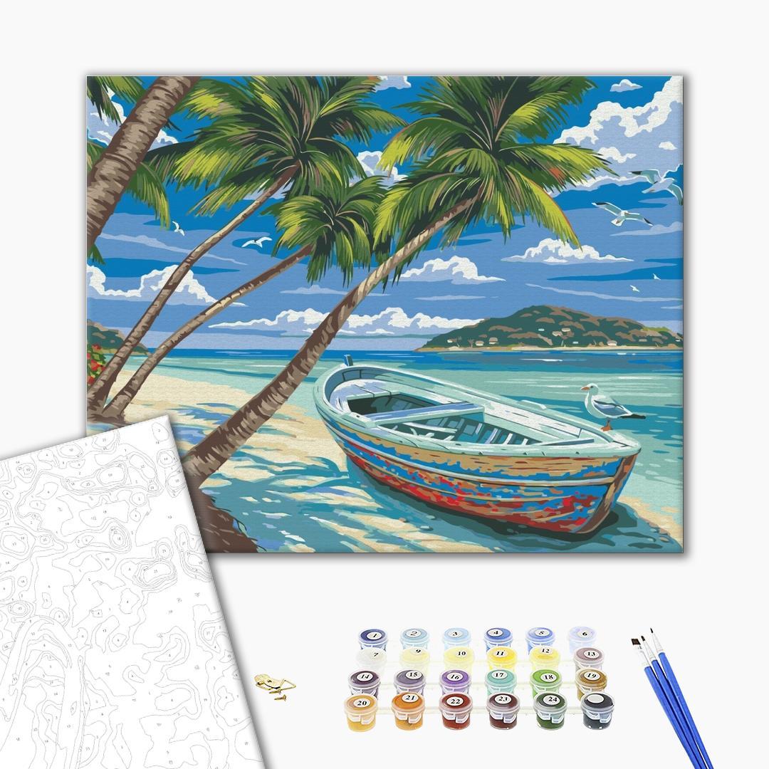 Картина по номерам Пейзажи - Райський острів