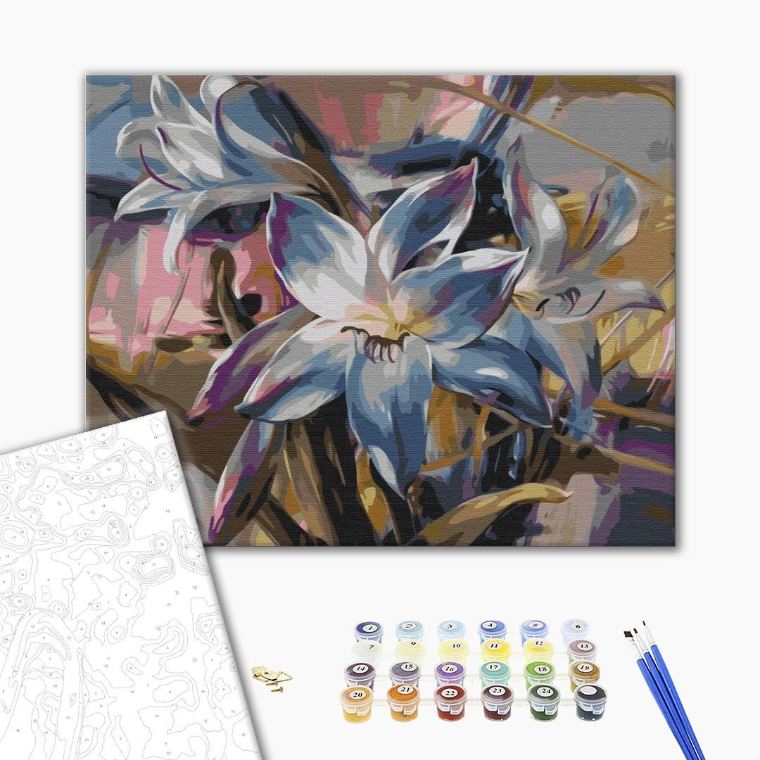 Картина по номерам Цветы - Нарисованные цветы