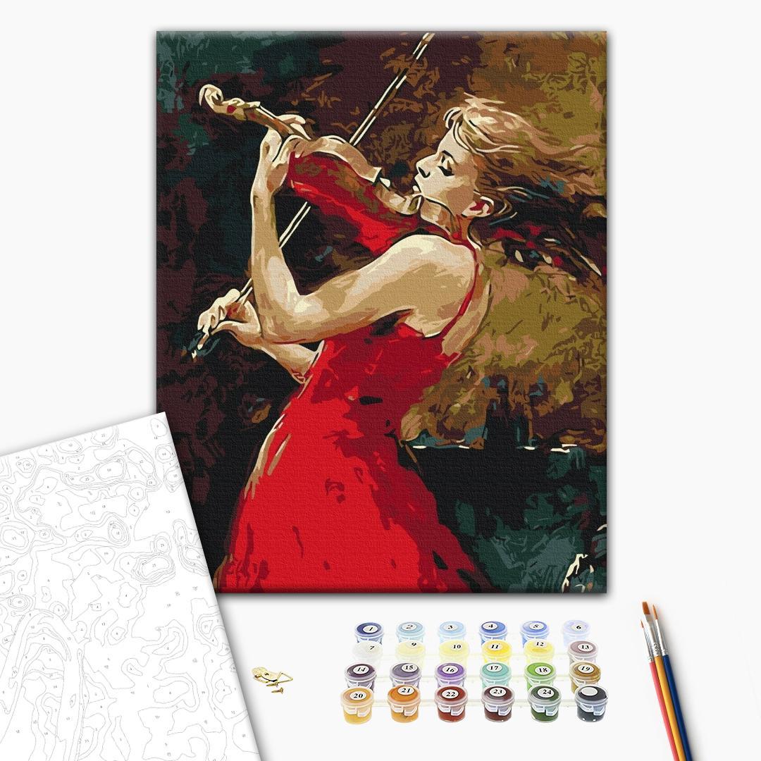 Картина по номерам Люди на картинах - Девушка со скрипкой