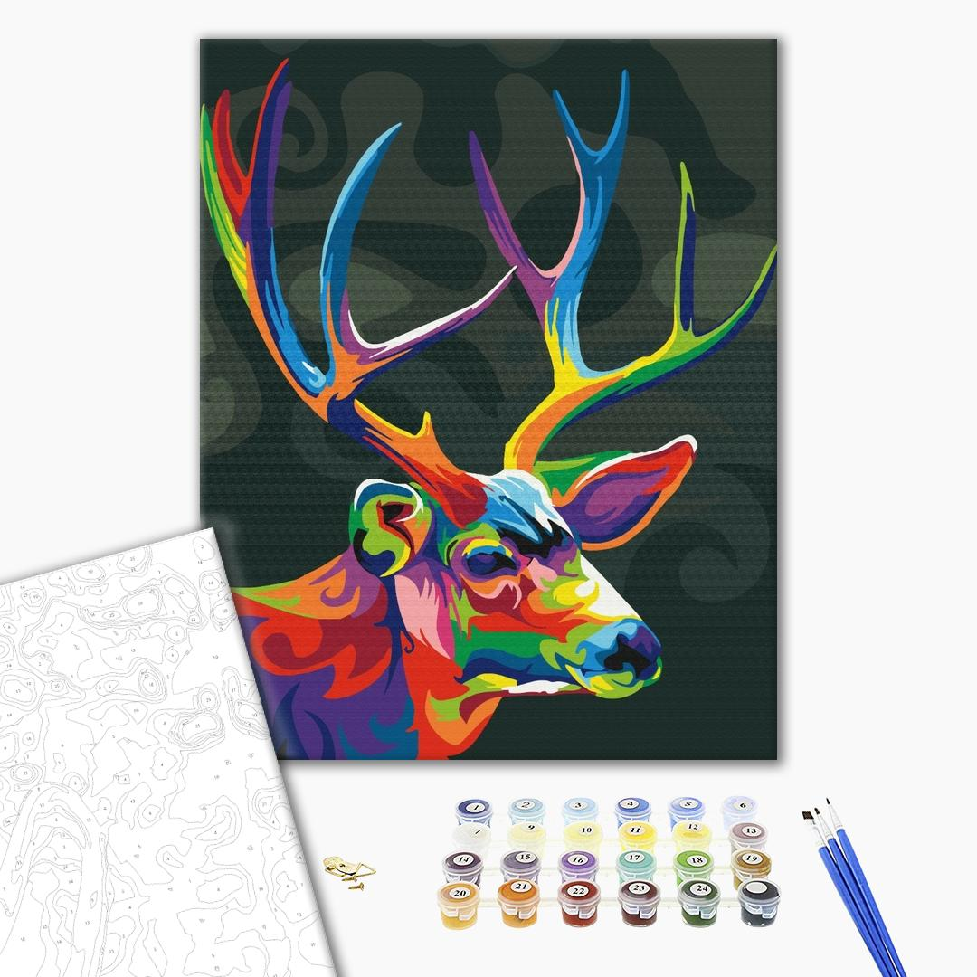 Картина по номерам Поп-арт - Барвистий олень